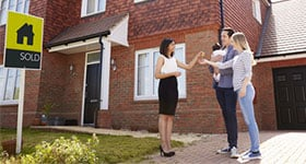 First Time buyers outside sold house