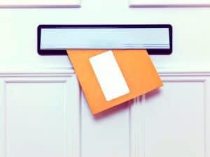 envelope in letterbox