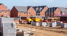 new houses being built