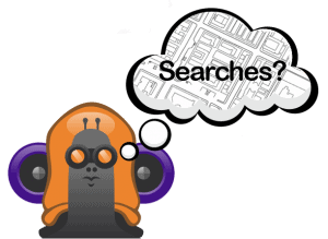 snail with search question