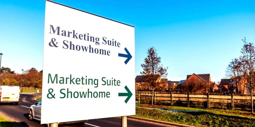 New build show home sign