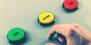 yes no maybe buttons