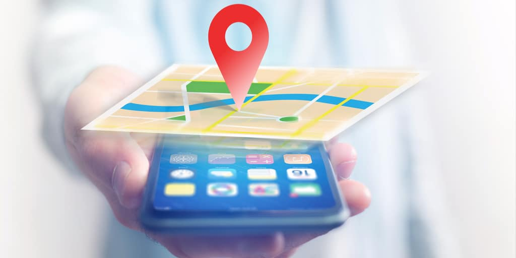 location pin on local map